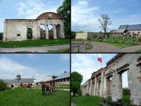 SOBKÓW- ruiny klasycycystycznego pałacu wzniesionego około 1770 roku