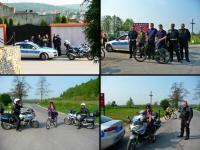 Policja eskortowała nas do granic miasta... przy okazji przemyciłam trochę prywaty czyli lansu z policyjnymi maszynami;-))))