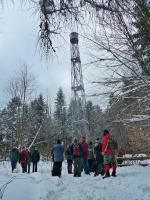 Cel naszej wyprawy- Góra Altana i wieża obserwacyjna