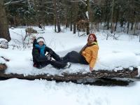 Zimowy lansik z Ewunią