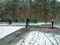 Śniegowe esy floresy na Stadionie