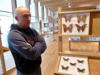 Kol. Piotr Sołkiewicz i jego kolecja motyli i innych owadów egzotycznych