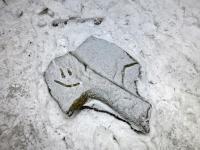 Po drodze znalazłam uśmiechnięty kamień;-)))