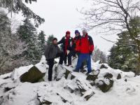A tu przez przypadek wpadłam w zacne towarzystwo zdobywców Mont Blanc... a właściwie władowałam się im do zdjęcia;-)))