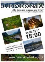 W czwartek 14 marca Klub Podróżnika  zaprasza na spotkanie z  Anną Gramatyką–Szcześniak