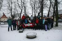 03-02-2013 Zimowe wejście na Łysicę – Trasa Klubu Górskiego PTTK Kielce